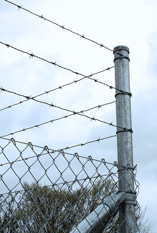 wcs security chainlink fencing with razor wire