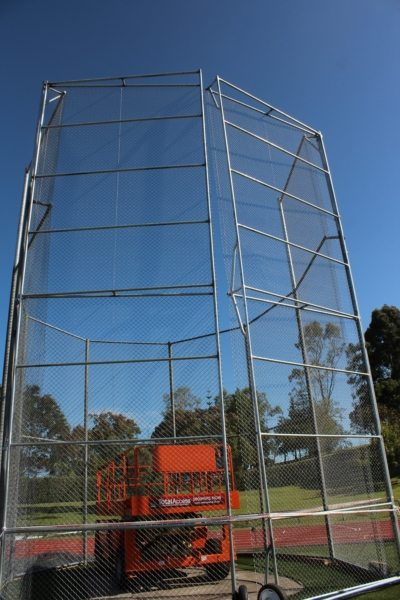 Hammer Throw Cage 10mtr high WCS installed