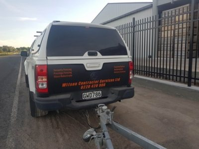 Secure panel black - WCS Fencing commercial