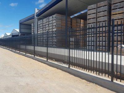 Black Aluminium Security Panel Fence