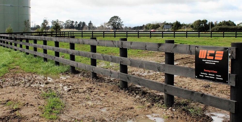 Post-Rail-Painted-timber-Fence-waikato