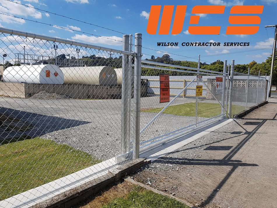 WCS Galv Chainlink with Barbwire topper Security Sliding Gate and security fence