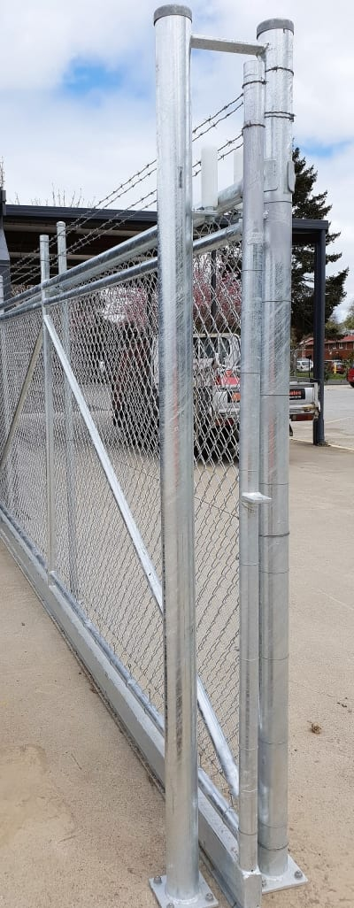 Chainlink sliding gate commercial