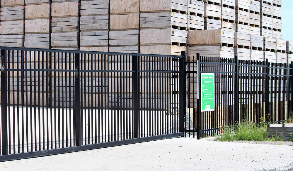 Secure panel commercial security fencing