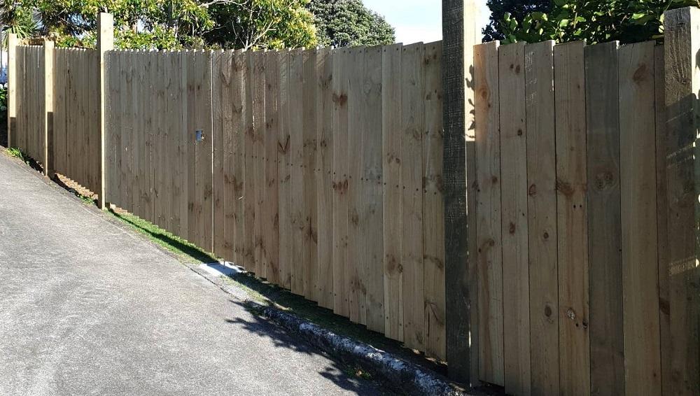 Exerior view custom raking gates