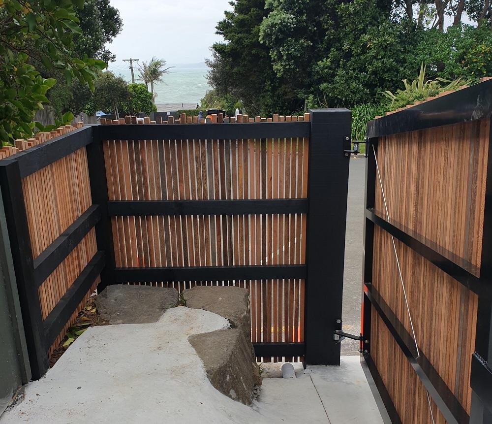 Hardwood battern Fence and Gate
