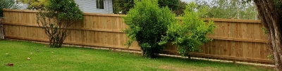 Sloped timber fence
