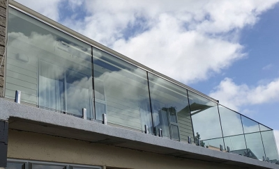Stainless Steel Capped Glass Balustrade